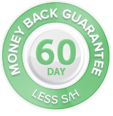 60 day money-back guarantee less shipping and handling
